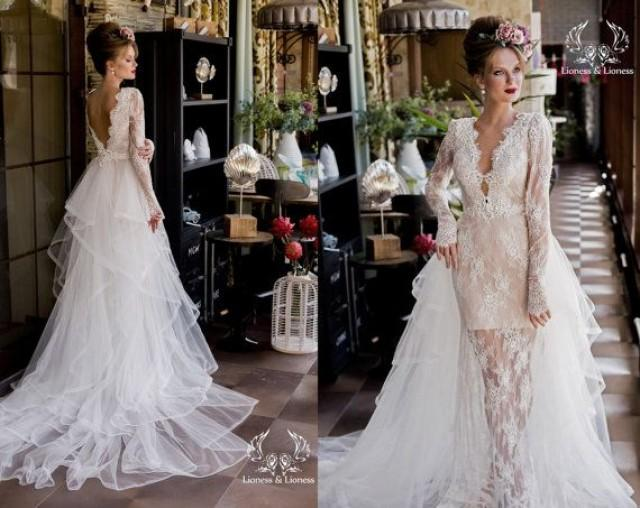 Wedding Dress, Long Sleeve Wedding Dress, Lace Wedding