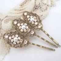 Wedding Hair Pins, Bridal Hair Pins, Bobby Pins, Swarovski ...