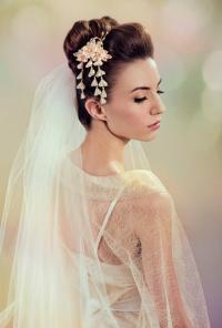 Fuji Silk Flowers Bridal Kanzashi Headpiece Japanese ...