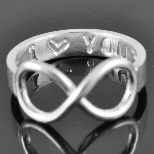 Infinity Ring, Promise Ring, Personalized Ring, Best