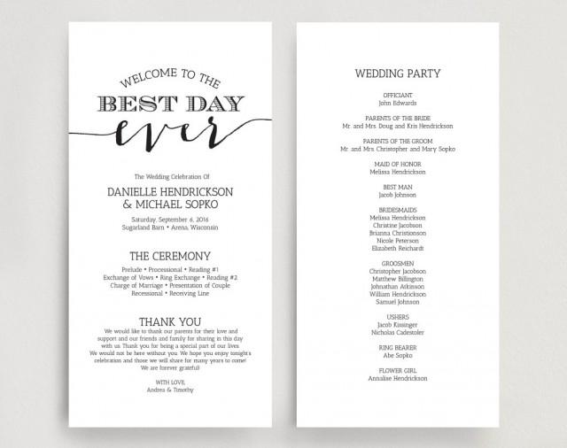 free downloadable wedding programs templates