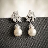 Crystal Bridal Earrings, Art Deco Wedding Earrings ...