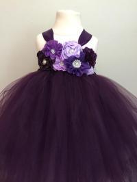 Plum Purple Lavender Girls Tulle Dress, Plum Flower Girl ...