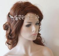 Wedding Headband, Bridal Hair Vine, Bridal Headband ...