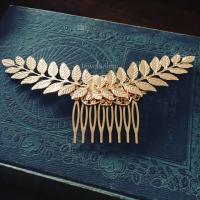 Gold Leaf Hair Comb Bridal Hair Accessories Woodland ...