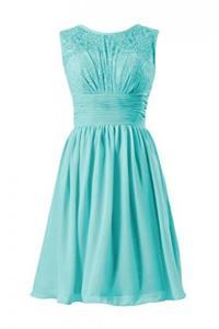 Tiffany Blue Lace Dress Short Bridesmaid Dress #2462413 ...