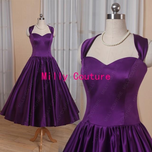 Halter Sweetheart 1950s Rockabilly Bridesmaid Dress