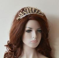 Wedding Hair Wreaths & Tiaras, Wedding Crown, vory Pearl ...