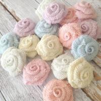 5 Pastel Burlap Flowers, Wedding Decorations DIY, Rustic