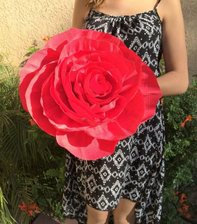 Giant Paper Rose Crepe Paper Rose Giant Bouquet Flower