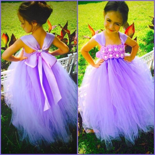 Lavender Orchid Flower Girl Dress, Lavender Dress, Girls