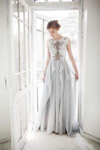 Dress - Grey Wedding Dress // Iris #2514616 - Weddbook