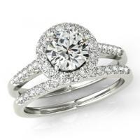 Moissanite Wedding Sets - Forever One Moissanite & Diamond ...