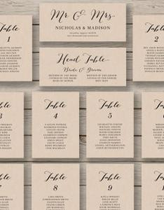 Wedding seating chart template printable editable table plan you edit in word rustic calligraphy style also rh weddbook