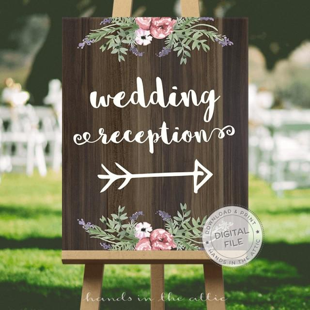 Wedding Signage Wedding Signs Download Wedding Signs Ideas  RECEPTION Direction  This Way