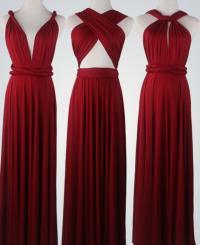 Wine Red Bridesmaid Dress Infinity Dress Convertible Dress ...