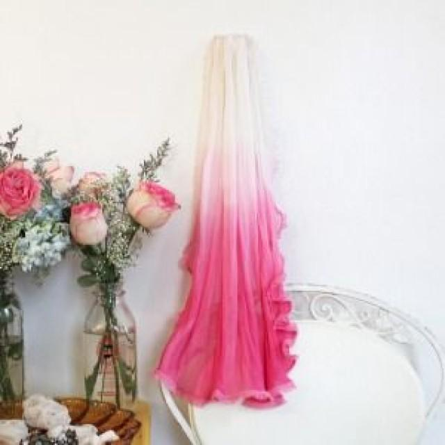 Wedding Theme  Pink Ombre Wedding Veil 2535832  Weddbook