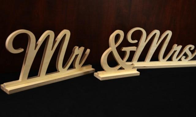 MR And MRS Wooden Sign, Freestanding- Sweetheart Table