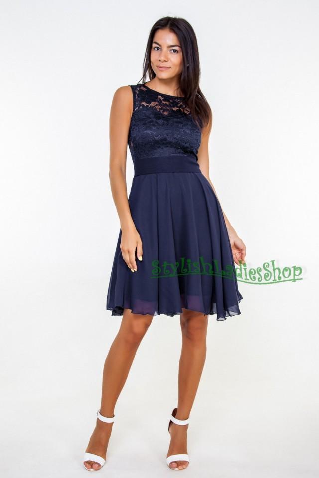Navy Blue Bridesmaid Dress Navy Lace Dress Blue Dress