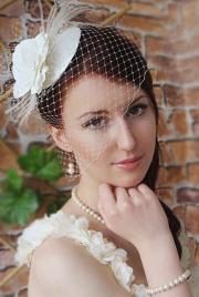 bridal mini hat wedding hairstyles