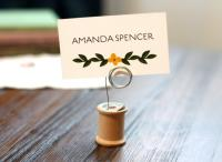 VINTAGE Wood Thread Spool Wedding Table Number Holder ...