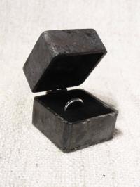 Proposal Engagement Ring Box - Iron Wedding Ring Box ...