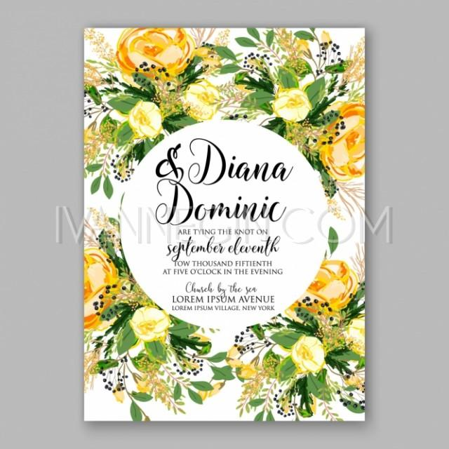 Yellow Bridal Shower Invitations