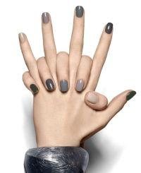 Nail - Neutral Grey Ombre Nails #2030360 - Weddbook