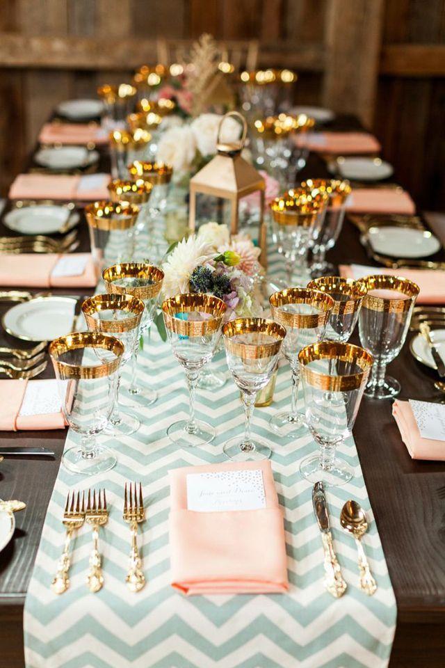 Mint Wedding  Beautiful Table Setting #2030863  Weddbook