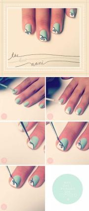 wedding nail design - diy bow
