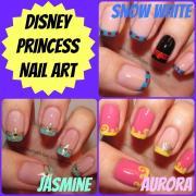 pretty princess disney nail