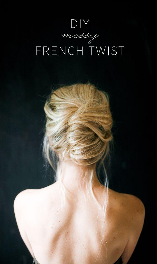 Wedding Hairstyles  DIY Messy French Twist 2047428