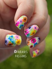 wedding nail design - floral