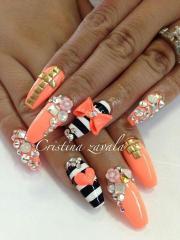 orange wedding - black