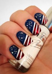 wedding nail design - 4th of july
