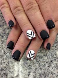 Wedding Nail Designs - Black And White Nail Art #2051116 ...