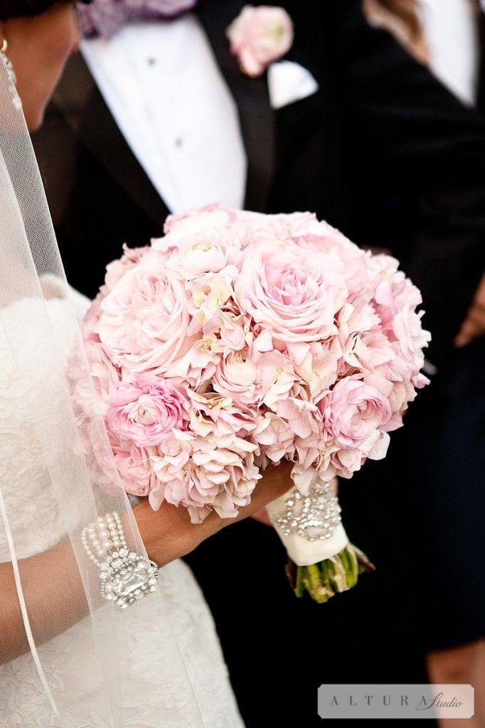 Blush Hochzeit  Hortensien Und Pfingstrosen Bouquet