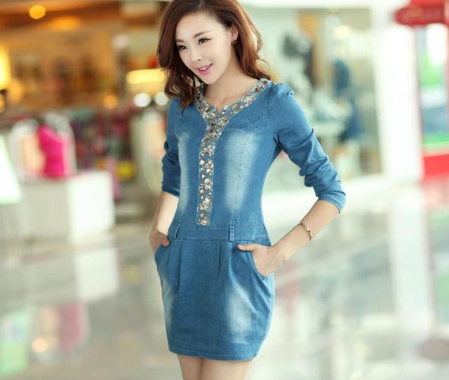 Fashion Denim Dresses For Women