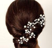 Four Pieces Bridal Pearl Hair Pin, Wedding Hair