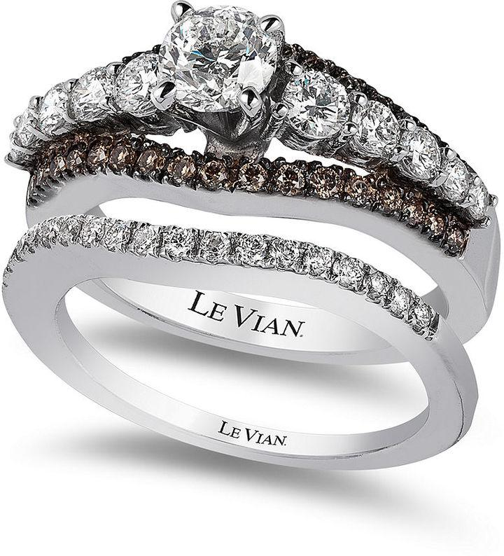 Le Vian Bridal Chocolate Diamond And White Certified