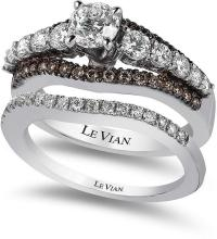 Le Vian Bridal Chocolate Diamond And White Certified ...