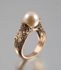 Rose Wedding - The ENCHANTED PEARL 14K Rose Gold Ring ...