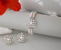 Bridal Bracelet & Earring SET, Vintage Bridal Jewelry ...