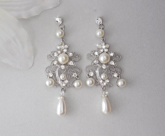 Pearl Wedding Earrings Vintage