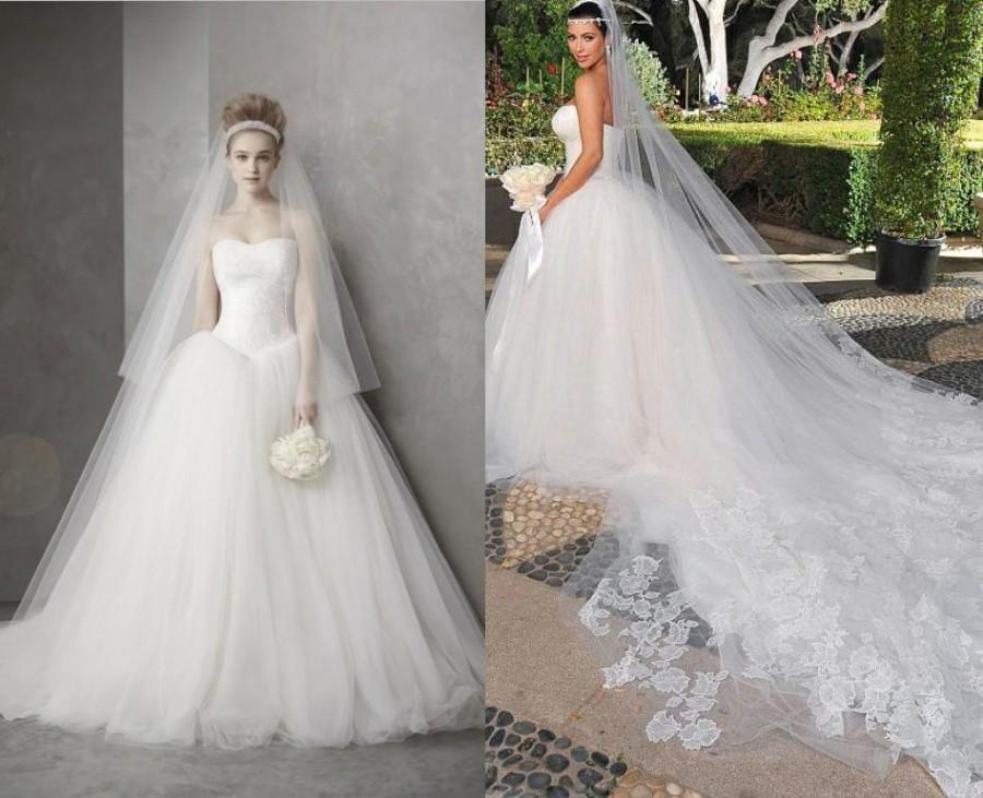 Celebrity Wedding Dress Luxury Hot Sale Actual Images