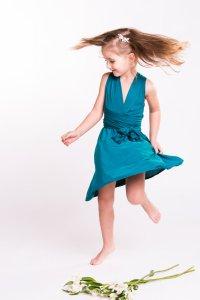 Girls Infinity Dress, Flower Girl Dress, Junior Bridesmaid ...