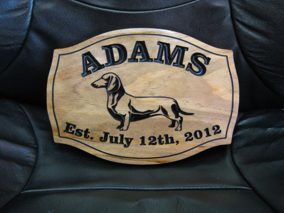 Personalized Dachshund Dog Sign Weiner Dog Wedding Gift