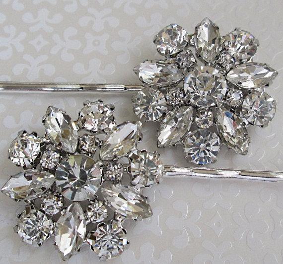wedding hair pins crystal bobby pins bridal accessories silver hair clips wedding hair piece rhinestone hair pins bridesmaids gifts