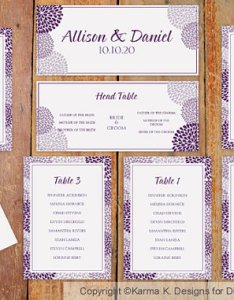 Wedding seating chart template download instantly chrysanthemum plum microsoft word format also rh weddbook