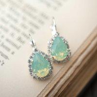 Opal Silver Estate Style Vintage Earrings Wedding Jewelry ...